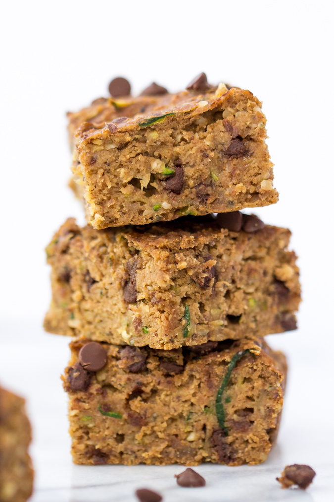 Chocolate Chip Zucchini Protein Bars