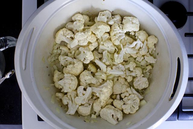 I put the cauliflower in too soon