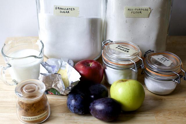 material for magic apple plum cobbler