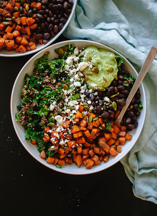 Healthy and hearty Southwestern kale power salad recipe