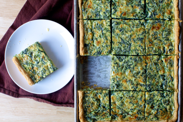 Easy and Simple Way to Make spinach sheet pan quiche