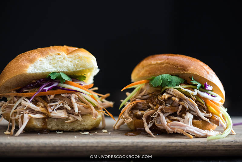 Slow Cooker Honey Garlic Chicken Sliders