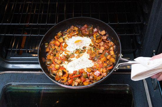Bake the shakshuka & serve your dish: