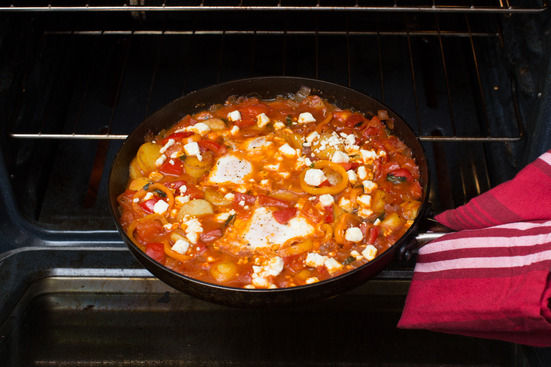 Bake the shakshuka & serve your dish: